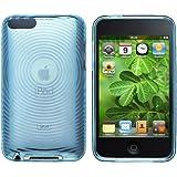Klare Blau Kreis Gel Tasche Hülle Case Cover für Apple ipod Touch 2 3 2G 3G Gen