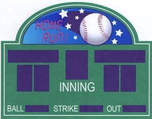 "6"" Round ~ Baseball Scoreboard ~ Edible Image Cake/Cupcake Topper!!!"