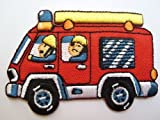 Feuerwehr 7,4 cm * 5 cm Bügelbild Aufnäher Applikation...