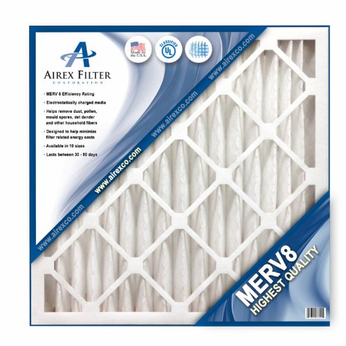16x20x2 Pleated Air Filter MERV 8 - Highest Quality - 3 Pack - Actual Size: 15 ½ X 19 ½ X 1 ¾