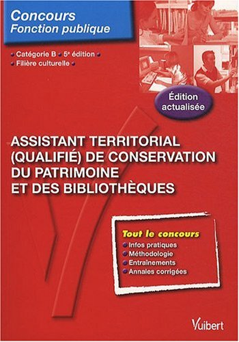N67 Assist. Territorial (Qual.) de Conservation du Patrimoine Bibliotheque, cat. B