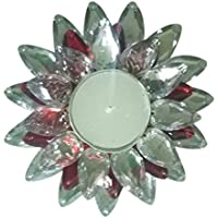 Multicolor Stone Water Floating Flower Design T-Light Candle Pack Of 1