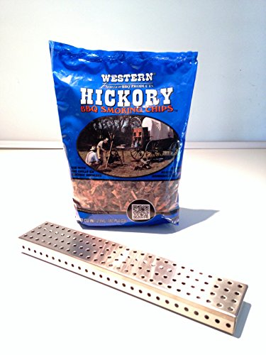 Stainless Steel Richman Smoker Box Starter Kit/Gift Combination - Features 304 Stainless Steel Smoker Box, Hickory Bbq Wood Smoke Chips Valued: $26.99 Now $19.99!