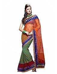 CSE Bazaar Women Indian Beautiful Fancy Party Wear Traditional Wedding Saree Sari - B00SO6OQSO