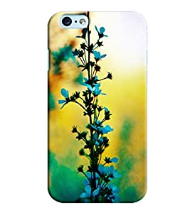Omnam Flower Leaf Stem Printed Designer Back Cover Case For Apple Iphone 6