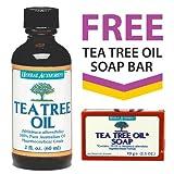 100% Australian Tea Tree Oil + FREE Tea Tree Oil Soap Bar Picture