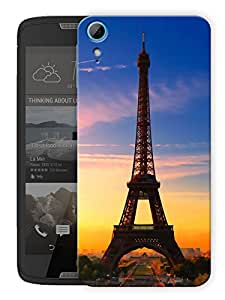 "Humor Gang Eiffel Tower Beautiful Scenery - Paris Printed Designer Mobile Back Cover For ""HTC DESIRE 828"" (3D, Matte, Premium Quality Snap On Case)"