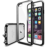 iPhone 6 Case - Ringke FUSION ***All New Dust Free Cap & Drop Protection*** [FREE Screen Protector][BLACK] Premium Crystal Clear Back Shock Absorption Bumper Hard Case with Free HD Screen Film for Apple iPhone 6 - Eco/DIY Package