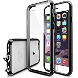 "iPhone 6 Case - Ringke FUSION iPhone 6 Case 4.7 "" **NEW** [Dust Cap/Drop Protection][BLACK] Premium Crystal Clear Back Shock Absorption Bumper Hybrid Hard Case for Apple iPhone 6 4.7 Inch - Eco/DIY Package"