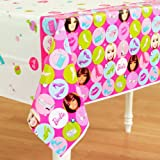 """Barbie, All Dolled Up 54"""" x 102"""" Plastic Table Cover"""