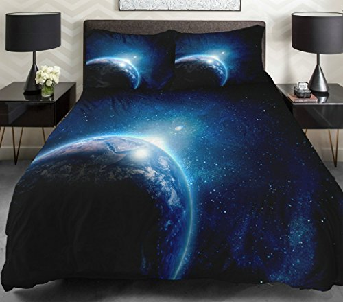 Anlye Galaxy Quilt Cover Galaxy Duvet Cover Galaxy Sheets Space Sheets Outer Space Bedding Set With 2 Matching Pillow Covers (King) front-725590