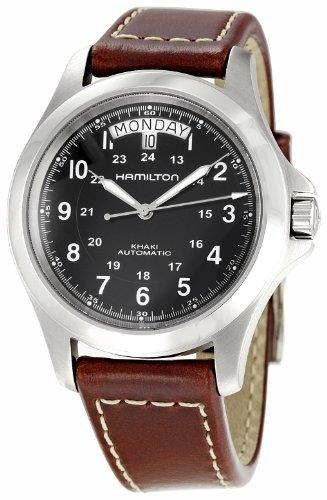 Hamilton Men's H64455533 Khaki King Black Dial Watch