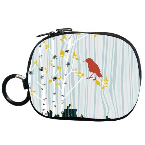 Generic Personalized Cartoon Design Birch Tree Branch And Bird For Coin Purse (Two Side) front-42487
