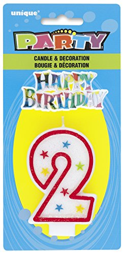 Cake Decoration #2 Glitter Birthday Candle (1ct)
