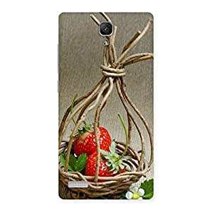 Ajay Enterprises Straberry Basket Multicolors Back Case Cover for Redmi Note Prime