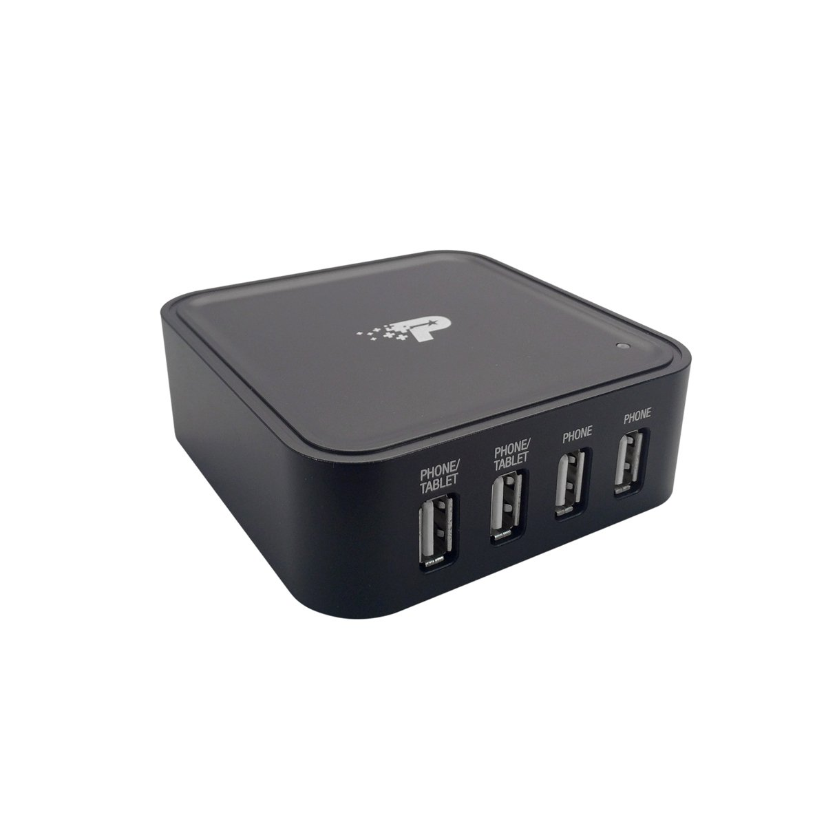 Patriot FUEL Station Mini High-Speed 4-Port Mobile Device Charger with Circuit Protection - Retail Packaging - Black пила patriot es 2016 220301510