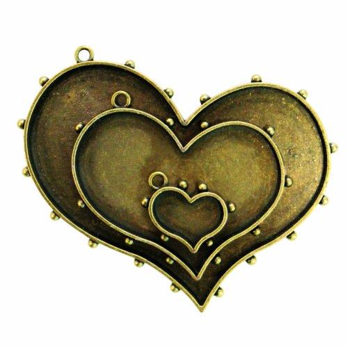 Spellbinders Mb1-005 Media Mixage Hearts One, Bronze