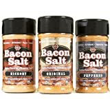 J&D Foods Bacon Salt 3-Pack - Original, Hickory, Peppered