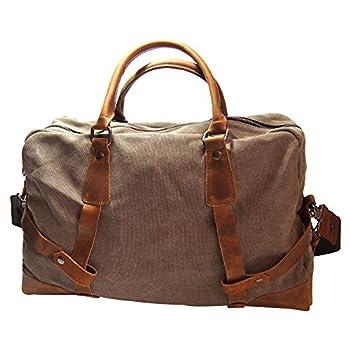 Samic® Casual Life Genuine Leather Satchel Duffel Bag