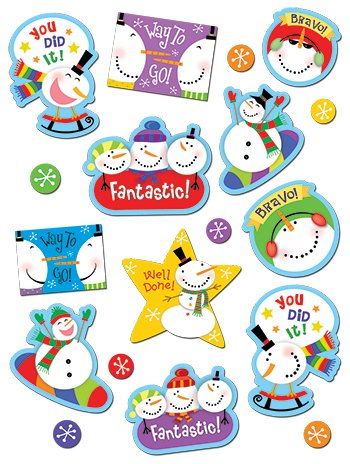 Snowman Stickers -- Case of 16