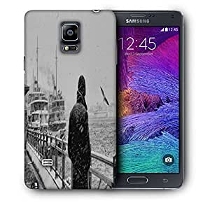 Snoogg Man Waiting Printed Protective Phone Back Case Cover For Samsung Galaxy NOTE 4 / NOTE IIII