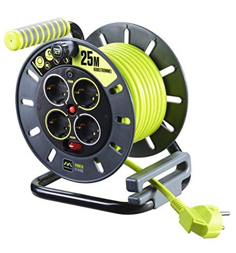 Masterplug-Pro-XT-ROBUST-L-Kabeltrommel-25m-mit-4-Steckdosen-Schalter-und-Thermoschutz