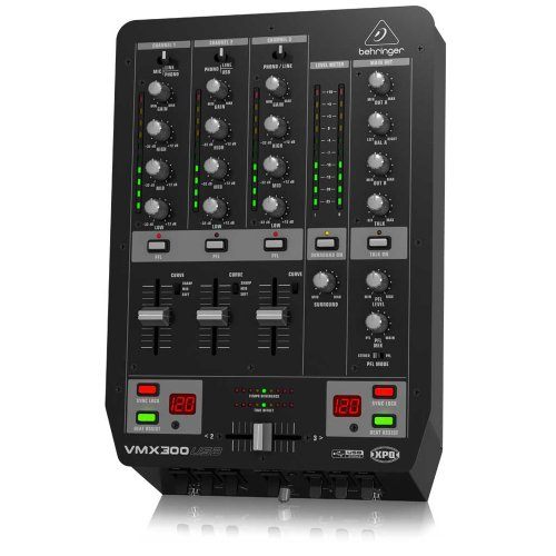 Behringer Vmx300Usb Professional 3-Channel Dj Mixer With Usb/Audio Interface