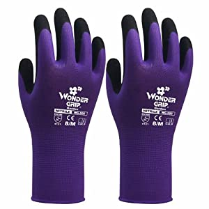 New safety protection wonder grip work mittens protection for Gardening gloves amazon