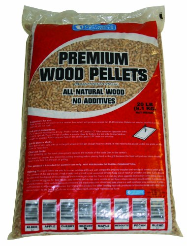 Wood Pellets - All Natural Premium Grilling Barbeque Wood Pellets - No Fillers ( Hickory 20 Lb Bag )