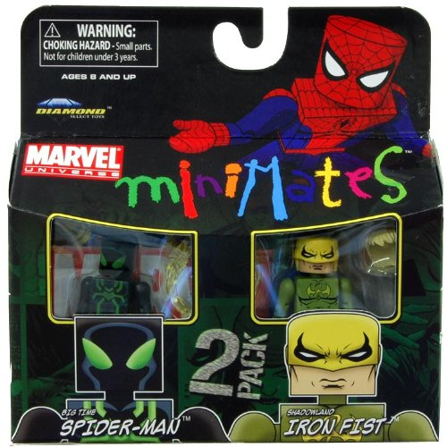 Picture of Art Asylum Marvel Minimates Series 38 Mini Figure 2Pack Spiderman Ironfist (B004TBILSO) (Spider-Man Action Figures)
