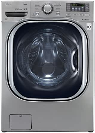 LG WM4070HVA TurboWash 4.3 Cu. Ft. Graphite Steel Stackable With Steam Cycle Front Load Washer - Energy Star