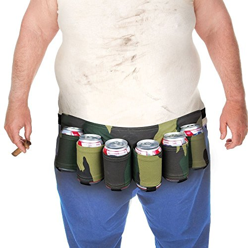 Dreamslink Six Pack Beer Belt Camouflage Holds Nylon Belt Soda Camo 6 Pop Cans (Camo) (Can Holder Belt compare prices)