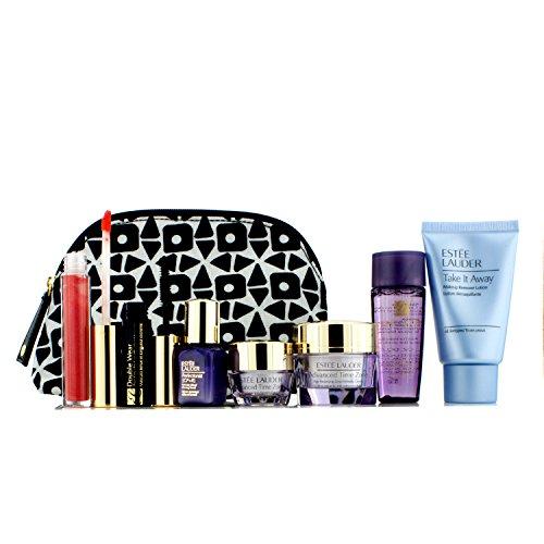 Travel Set: Makeup Remover 30ml + Optimizer 30ml + Day Cream 15ml + Serum 7ml + Eye Cream 5ml + Mascara #01 + Lip Gloss #30 + Bag 7pcs+1bag