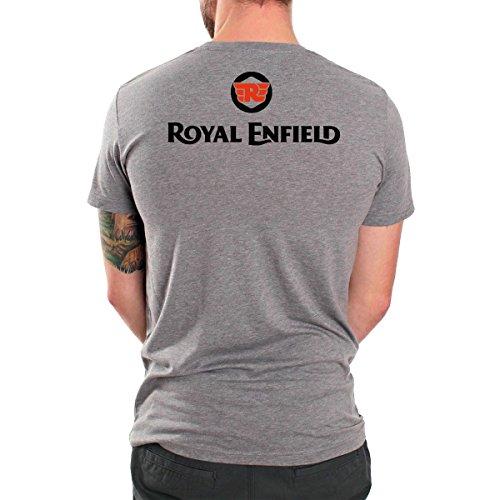 Royal Enfield Vintage Logo MOTORCYCLE BIKER Mens Top Dry Grey T-Shirt 1