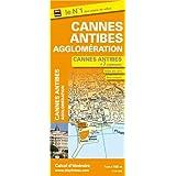 Plan de Cannes, d'Antibes et de 7 communes de l'agglomération