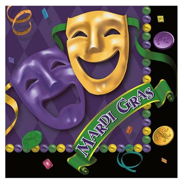 Masquerade Lunch Napkins (16 Count) by Hallmark Party
