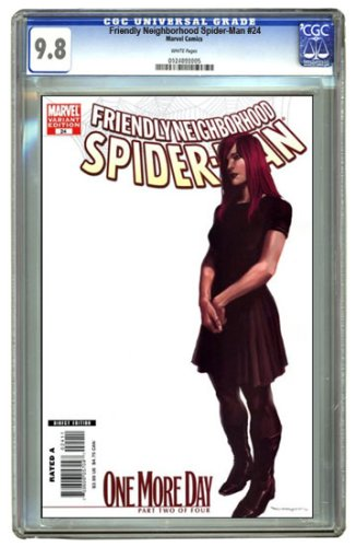 Friendly Neighborhood Spider-Man #24 'One More Day' Part 2 of 4 Marko Djurdjevic Variant Cover CGC 9.8 - Buy Friendly Neighborhood Spider-Man #24 'One More Day' Part 2 of 4 Marko Djurdjevic Variant Cover CGC 9.8 - Purchase Friendly Neighborhood Spider-Man #24 'One More Day' Part 2 of 4 Marko Djurdjevic Variant Cover CGC 9.8 (CGC, Toys & Games,Categories,Games,Card Games,Collectible Trading Card Games)