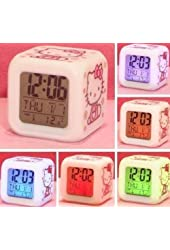 MoodiCare Hello Kitty Alarm Clock w/ Soothing Glow LED Lights And Thermometer