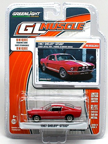 GreenLight 1967 shelby gt500 greenlight muscle series 11 candy apple red