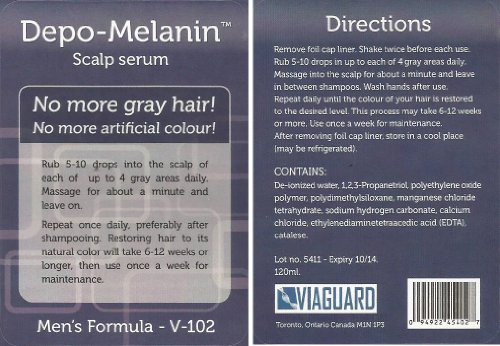 Men's Depo-melanin TM Scalp Serum. A Pc-Kus-