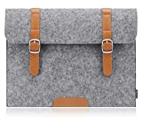 PLEMO Felt 14 Inch Laptop / Notebook Computer Sleeve Case Bag Cover, Grey