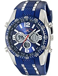 U.S. Polo Assn. Sport Men S US9284 Blue And Silver-Tone Analog Digital Chronograph Watch
