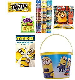 Despicable Me Minions Bucket Gift Bundle with Candies (20 Pieces)