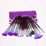 Dragonpad 16pc Professional Cosmetic Makeup Make up Brush Brushes Set Kit With Purple Bag Case