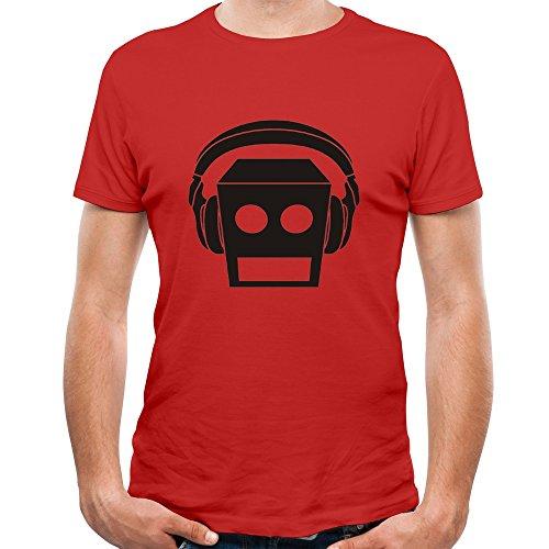 Belva LMFAO Beat Rock El Robot Logo Unique Men's Short Sleeve Tee Shirt (Lmfao Robot compare prices)