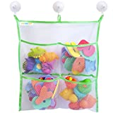 Bath Toy Organizer - Extra Strong - The Only Storage Bag With 3 Suction Cups