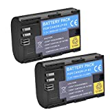 (Pack of 2)High Power LP-E6N LP-E6 Rechargerable Battery For Canon EOS 5D Mark II,EOS 5D Mark III,EOS 6D,EOS 7D,EOS 60D,EOS 60Da,EOS 70D,7DmarkII,7DmarkIII Digital Cameras
