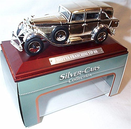 atlas-editions-silver-car-collection-chrome-plated-isotta-fraschini-tip-08-car-143-scale-diecast-mod