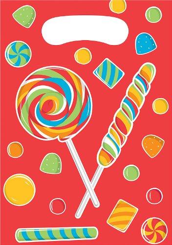 Creative Converting Sugar Buzz Birthday Party Favor Bags, 8 Count