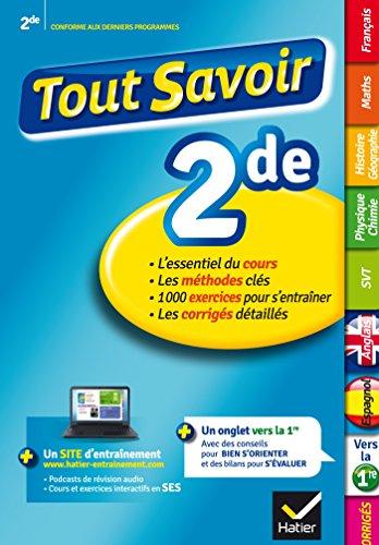 Le Pdf Gratuit Et Libre Tout Savoir 2de R Viser Toutes Les Mati Res De Seconde